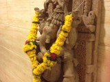 ganesh with marigolds